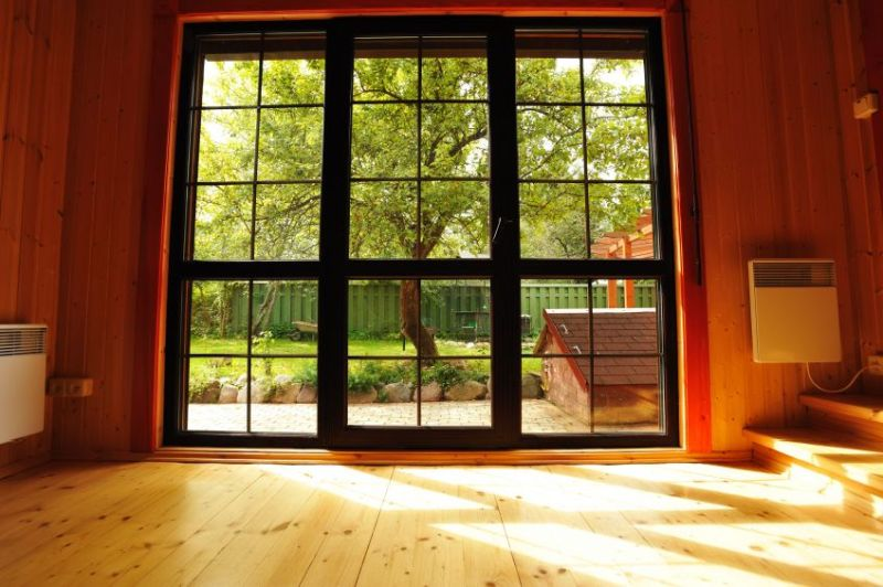 5863971 - big window showcase wooden interior