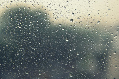 55213400 - drops of rain on the inclined window (glass). shallow dof