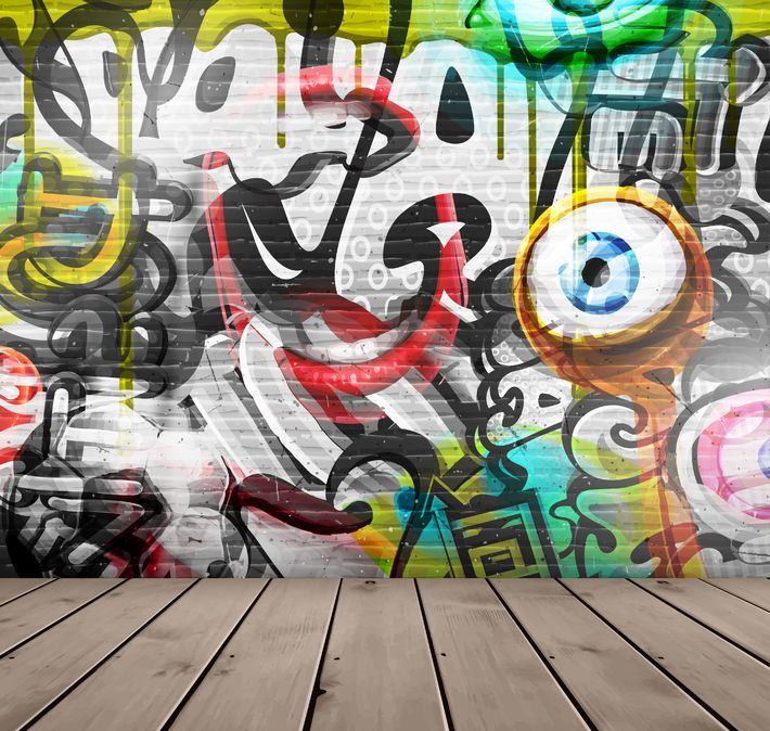 29278431 - graffiti on wall